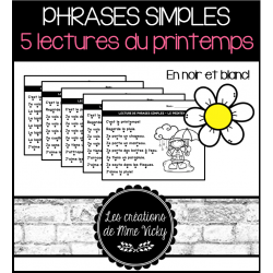Lecture de phrases simples - Printemps