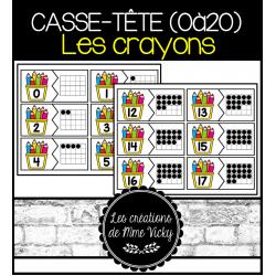 Casse-tête des nombres (0à20) - Les crayons
