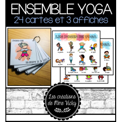 24 poses de yoga - Cartes et affiches