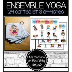 24 poses de yoga - Cartes et affiches