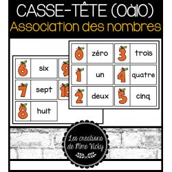 Casse-tête (0à10) - Association des nombres