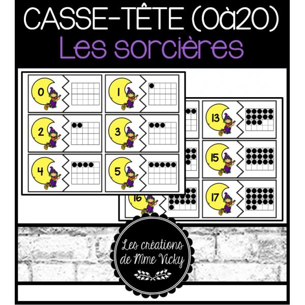 Casse-tête (0à20) - Les sorcières