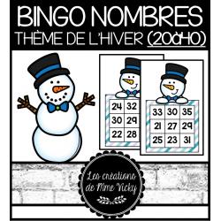 Bingo des nombres - Hiver (20à40)