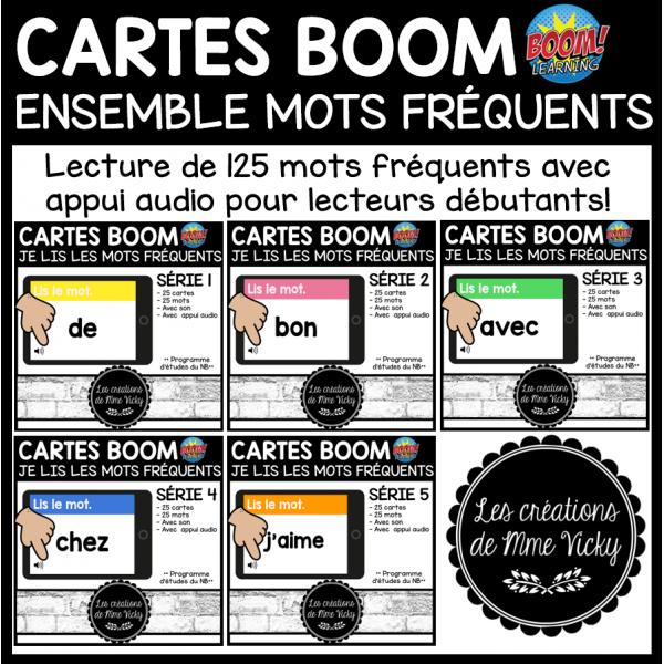 BOOM - Lis les mots fréquents - Séries 1 à 5