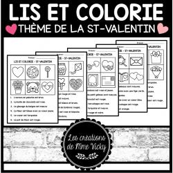 Lis et colorie - St-Valentin