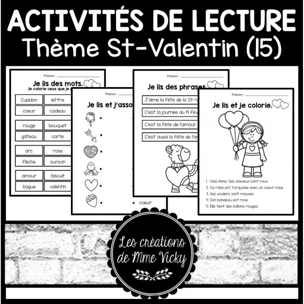 15 activités de lecture - St-Valentin
