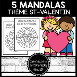 5 Mandalas - St-Valentin