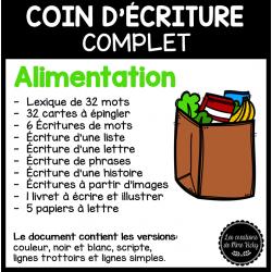 Coin d'écriture complet - Alimentation