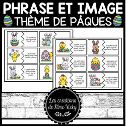 Association phrase et image - Pâques
