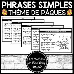 Lecture de phrases simples - Pâques