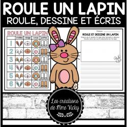 Activité d'écriture - Roule un lapin