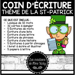 Coin d'écriture complet - St-Patrick