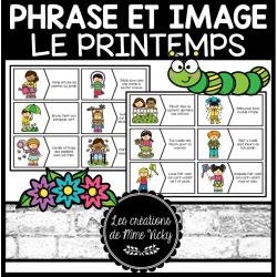 Association phrase et image - Printemps