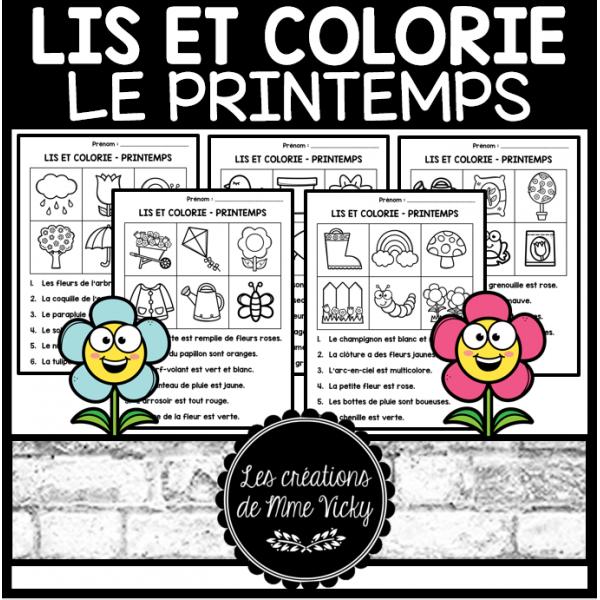 Lis et colorie - Printemps