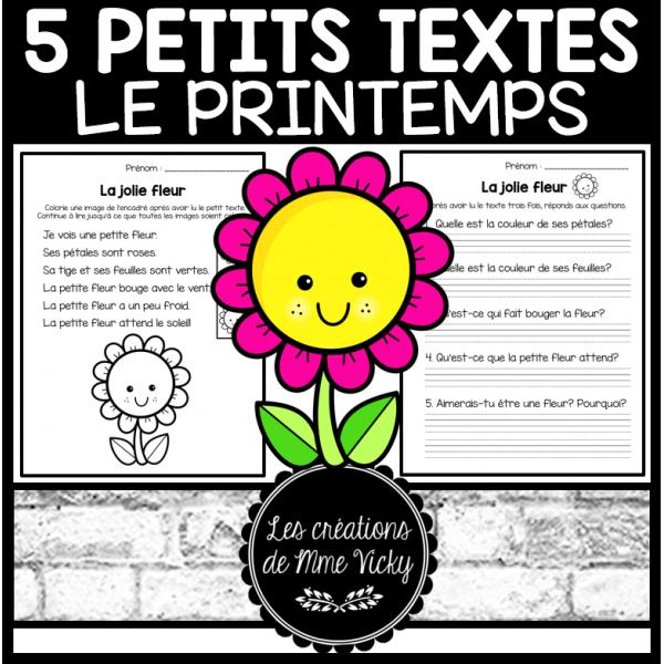 5 petits textes - Printemps