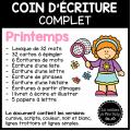 Coin d'écriture complet - Printemps