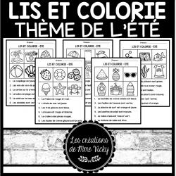 Lis et colorie - Été