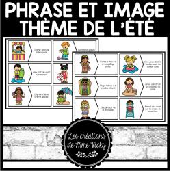 Association phrase et image - Été