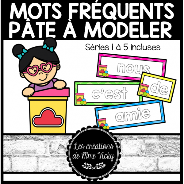 Mots fréquents - Pâte à modeler (étude de mots)