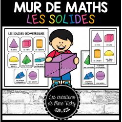 Mur de maths - Solides géométriques