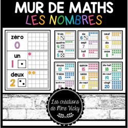 Mur de maths - Nombres 0 à 20