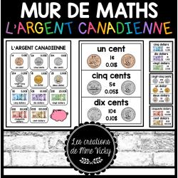 Mur de maths - Argent Canadienne