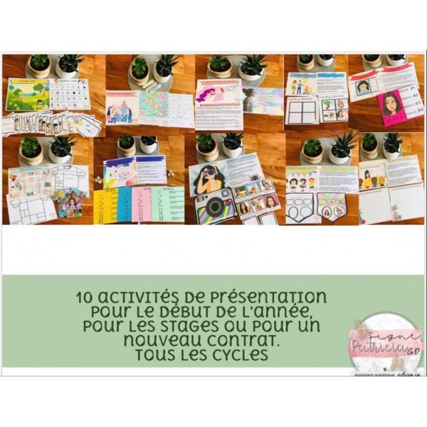 10 activités de présentation