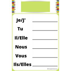 Fiche de conjugaison - Version française