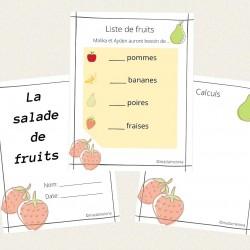 La salade de fruits -- Atelier Fractions