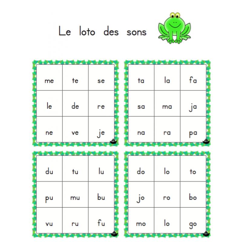 loto des syllabes