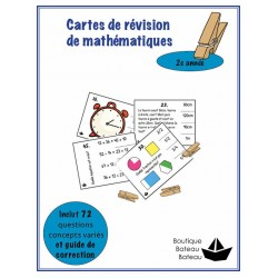 Cartes de révision de maths 2e année