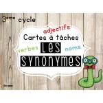 Cartes à tâches sur les synonymes