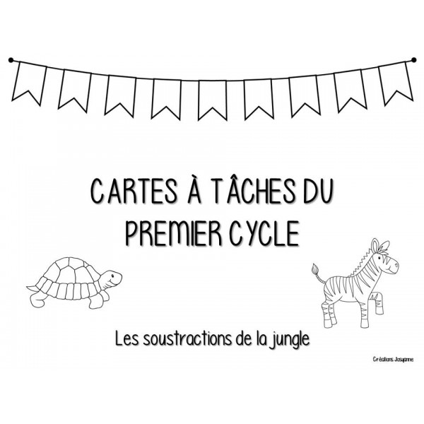Cartes à tâches 1er cycle - Soustractions