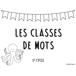 Cartes à tâches 3e cycle - Classes de mots