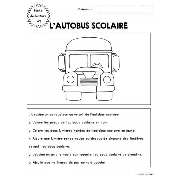 Fiche de lecture 9 - l'autobus scolaire