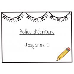 Police d'écriture - Josyanne 1