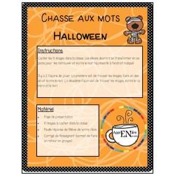 Chasse aux mots- écriture spontanée- Halloween