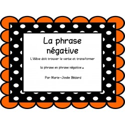 Trouver le verbe - Phrases négatives