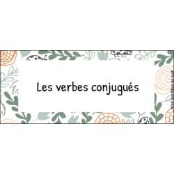 Les verbes conjugués