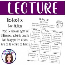 Tableau Tic-Tac-Toe - Lecture (Non-Fiction)