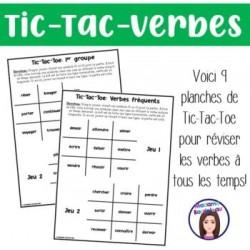 Tic-Tac-Toe Verbes