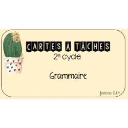 Cartes à tâches - Grammaire