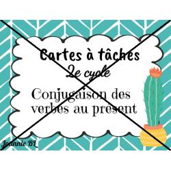 Cartes à tâches - conjugaison des verbes (présent)