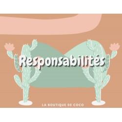 Responsabilités à thème de cactus