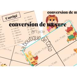 cartes à tâches , conversion de mesure