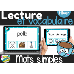 Lecture Mots Hiver | Boom Cards