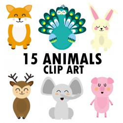 30 ANIMAL CLIP ART