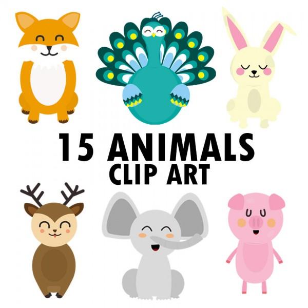 30 ANIMAL CLIP ART