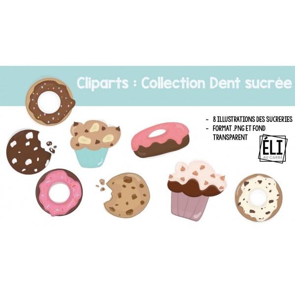 Cliparts - Collection Dent sucrée