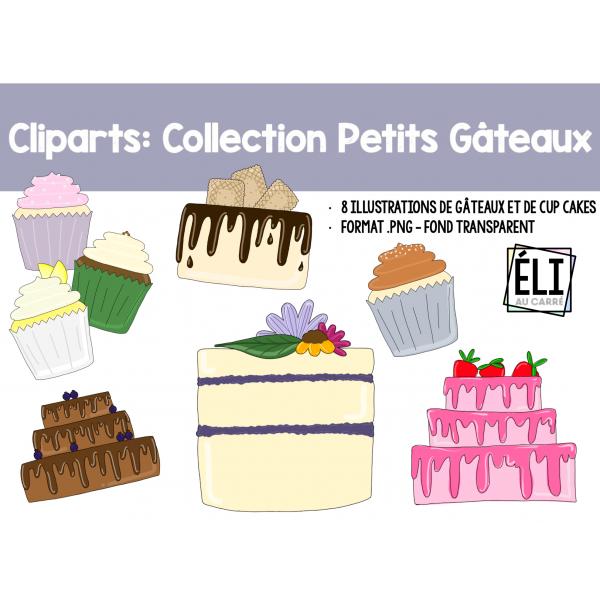 Cliparts: Collection petits gâteaux